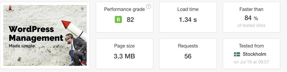 Before WordPress Optimisation