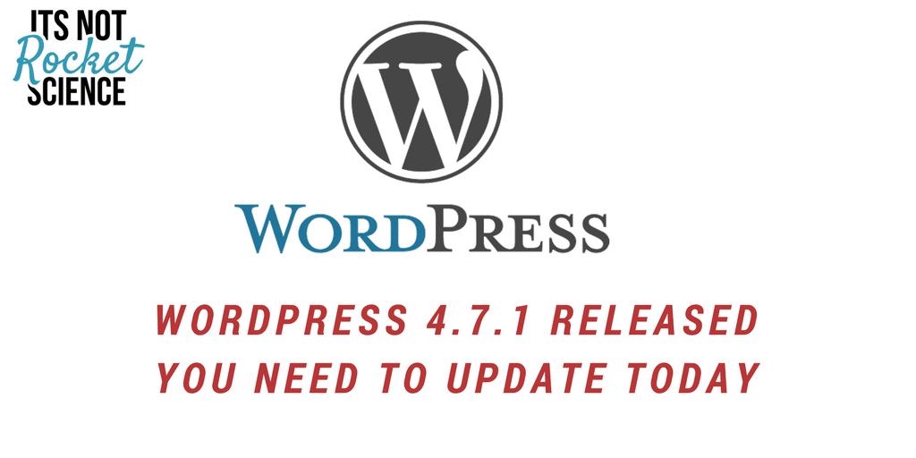 WordPress 4.7.1 – Released