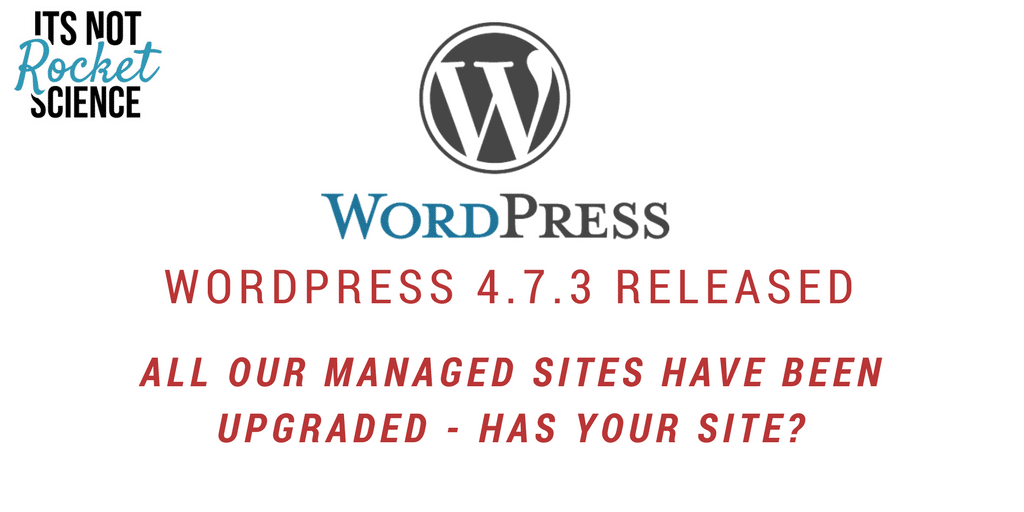 WordPress 4.7.3 Security & Maintenance Release