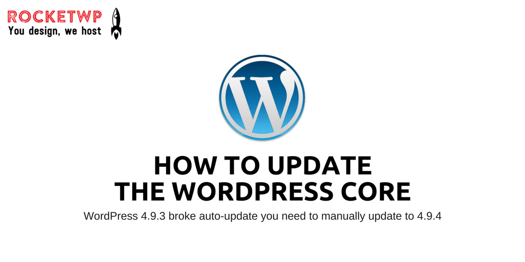 How to update the WordPress Core